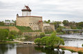 Old castle in narva estonia Stock Photography