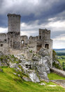 Old castle ruins in Poland in Europe Royalty Free Stock Photo