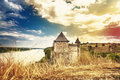 Old castle on the sky background Royalty Free Stock Photo