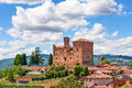 Old castle in small italian town. Royalty Free Stock Photo