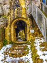 Old castle tunnel Royalty Free Stock Photo