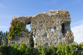 Old castle wall with blue sky Royalty Free Stock Images