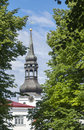 Old cathedral of st nicholas in tallin summer Stock Photography