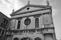 Old cathedral in venice on the island of dorsoduro historic part of italy black and white Stock Photography