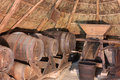 Old cellar into a thatched hut Stock Photography