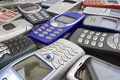 Old cellular phones 1 Royalty Free Stock Photos