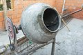 Old cement mixer on the construction Royalty Free Stock Photo