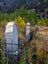 Old Cemetery in Autumn color Royalty Free Stock Image