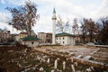 Old cemetery near the mosque sarajevo bosnia and herzegovina in center of city of country s population are muslims are Stock Photos