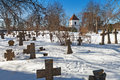 Old cemetery in pirita tallinn of st brigitta convent estonia Stock Photo
