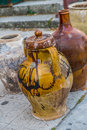 Old ceramic jars from the south of italy Royalty Free Stock Photo