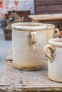 Old ceramic pots from the south of italy Royalty Free Stock Photography