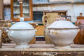 Old ceramic pots from the south of italy Stock Images
