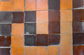 Old ceramic tile on floor Royalty Free Stock Photo