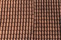 Old ceramic tile roof close up. background Royalty Free Stock Photo