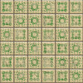 Old ceramic tiles Stock Photos