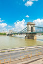 Old Chain Bridge in Budapest Royalty Free Stock Photo