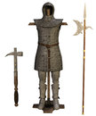 Old chainmail and weapons Royalty Free Stock Photos