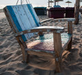 Old Chairs on the empty Beach Royalty Free Stock Photo