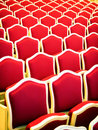 Old chairs at a theater Stock Image