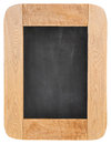 Old chalk board with wood frame isolated on white background Royalty Free Stock Photo