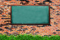 Old chalkboard on brick wall Royalty Free Stock Images