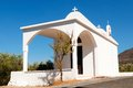Old chapel and tree crete island grrece Royalty Free Stock Images