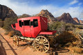 Old chariot in red rock canyon nevada Stock Photography