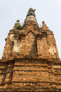 Old chedi in wat phra that hariphunchai lamphun thailand Stock Images