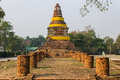 Old chedi in wiang kum kam ancient city chiangmai thailand Stock Image
