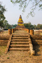 Old chedi in wiang kum kam ancient city chiangmai thailand Royalty Free Stock Photo