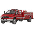 Old Chevrolet Fire Department Truck on white 3D Illustration Royalty Free Stock Photo