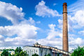 Old chimney of factory by tallinn in Estonia