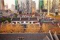 Old Chinese Houses High Rises Xintiandi Shanghai Royalty Free Stock Photo