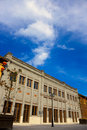 Old Chinese style buildings under blue sky Royalty Free Stock Photo