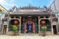 Old Chinese Thien Hau Pagoda, Cho Lon, District 5 , Ho Chi Minh City ( Saigon ) , Vietnam. Royalty Free Stock Photo