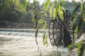 Old Chinese Wooden Water Wheel