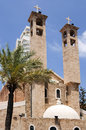Old christian church in beirut notre dame de lourdes downtown of Royalty Free Stock Photo