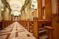 Old Church Aisle Stock Photography