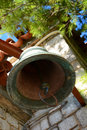 Old church bell in castle church nafplio greece olf a small orthodox Royalty Free Stock Photos