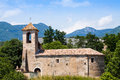 Old church in besalu sant marti de la capellada catalonia spain Royalty Free Stock Photo