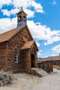 The old church of Bodie in the desert Royalty Free Stock Photo