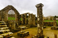 Old church in brittany ruins of french destination languidou Stock Images