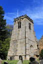 Old church clock tower and cemetery scarborough england Royalty Free Stock Photo