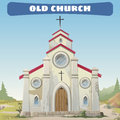 Old church closeup in the wild west Royalty Free Stock Photos