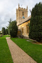 Old church in cotswold district of england parish stanway and stanton or cotswolds southern the autumn Stock Photo