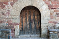 Old church door detail of a of an Royalty Free Stock Photo