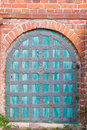 Old church door in the of radensleben state of brandenburg germany Royalty Free Stock Photography