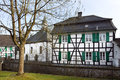 Old church and half-timbered house, Haan-Gruiten Royalty Free Stock Images