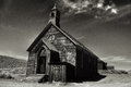 Old church in historic ghost town Bodie California Royalty Free Stock Photo